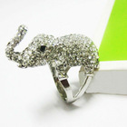 Rhinestone Elephant Alloy Ring Luxuriant in Design