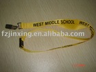 yellow 2*90 CM polyester printed lanyard with metal clip