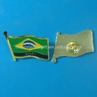 2012 hot selling Brazil Flag Lapel Pin