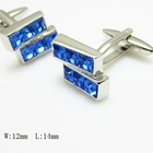 lastest maxican crystal alloy emerald cufflinks design