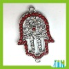 Palm Rhinestone European Beads In Bulk (PB085)