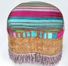 Heart Ottoman with fringe