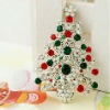 Christmas tree brooch crown base xmas decoration