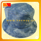 tie-dye fashion bush hat with self-fabric belt and loops