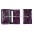 purple marbling leather deluxe business card holders