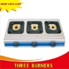 table gas burner with 3 burners