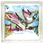 Colorful Cloudy Glass Brick