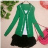 Vogue V-neck Paillette Embellished Single-breasted Cardigan Green LP12092709-3