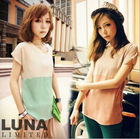 2013 fashion chiffon T-shirt for lady