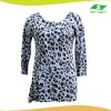 Lady's print cardigan sweater