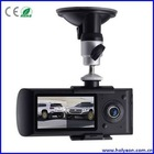 2 Camera Car DVR/Black Box with GPS Module and G-Sensor