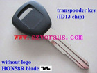 high quality Acur transponder key; ID13 chip;HON58R Blade; without logo