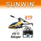 Good products Christmas gift 450V3 Sport RTF 2.4G 6CH channel Helicopter 450 RTF Helicopter liquid crystal display