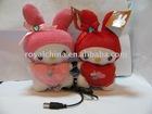 Cute Couple Plush Doll Speaker with rabbite shape R1501