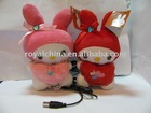 Cute Couple Plush Doll Speaker with rabbite shape R1501