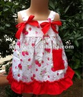 strawberry cute baby swing baby dress set