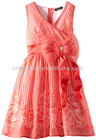 latest fashion red dresses for girls of 7 years old