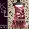 Sweetheart Pink Appliqued Backless Cocktail Dress 2012 F72
