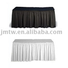 Shirred table skirt, table clothes, table cover, table throw, pleater table skirting,