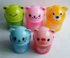 Animal shape plastic trash bin, office desk storage bin