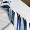 men's tie with strip printing