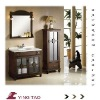 Europe design free standing vanitary cabinet bathroom color floor mounted cabinet
