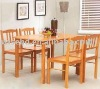 (W-5S-91) solid wood restaurant table set