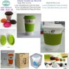 Ceramic ECO mug with silicone lid and sleeve