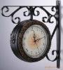Elegant, wrought iron clock