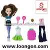 loongon fashion doll set in Sport Suit cheap plastic dolls