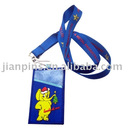 Fabric Card Holder Lanyard with Embroideried Logo