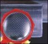 white plastic square mesh