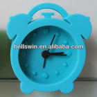 2013 New Product Silicone Alarm Clock Colorful Mini Table Clock