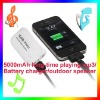 Manufacturer!! 2012 New mp3 player outdoor/emergency external battery bank/mobile phone charger/outdoor lighting