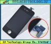 Black color mobile phone parts lcd for iphone 4s