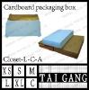 lid type folding card paper apparel box