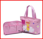 fashion cute girls' shopping bag with storage bag