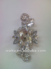 small elegant decorative crystal brooches