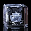 Optical glass classics 3D laser engraved crystal cube