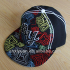 Flat Peak snapbacks Cap with NY 3D Embroidery and Rhinestone Transfer