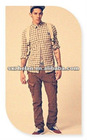 New fashion 100% cotton casual chino pants cargo trouser for men