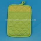 Green Color Non-Printe Wholesale Pot Holders