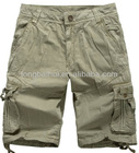 2012 men100% cotton cargo shorts in apparel stock
