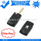 Flip Key Remote is for Peugeot 307 Car,Remote Car Key with Transponder chip,433mhz working frequency.