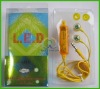 LED yellow Universal ear headset for iphone