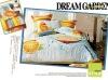 100% Cotton 4pcs/set 3d print orange bedding set