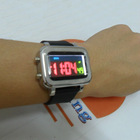 Silicone led watch with Alarm(SFL-GFW047)