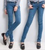 ei1213 Fashionable Thick Skinny Pencil Denim Jeans For Ladies