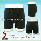 Double mercerized 100% cotton mens boxers