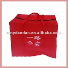 Red non woven gift bag
